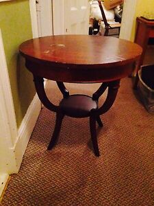 """Drum Table, 30"""" Diameter, 29"""" Tall. Chalk Paint Project"""