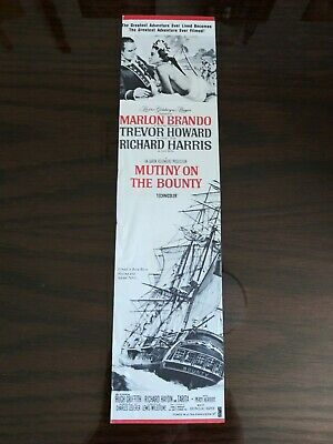 Vintage original Mutiny On The Bounty advertisement Mini Movie Poster Insert 70s