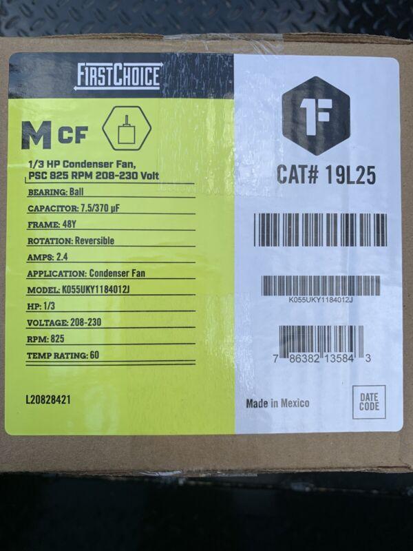 NEW!! Condenser Fan Motor, 1/3 HP, 825 RPM, 208-230 V, Frame 48Y 19L25