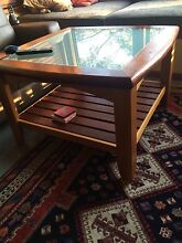 Hardwood coffee  table with glass Grays Point Sutherland Area Preview