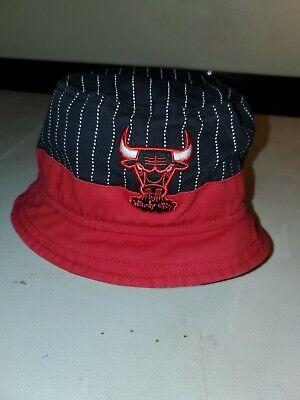 Chicago Bulls HWC Hardwood Classics Bucket Hat l-xl Windy City NBA Beach Sun