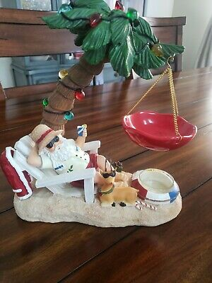.Yankee Candle Santa On The Beach Tart Burner **RARE
