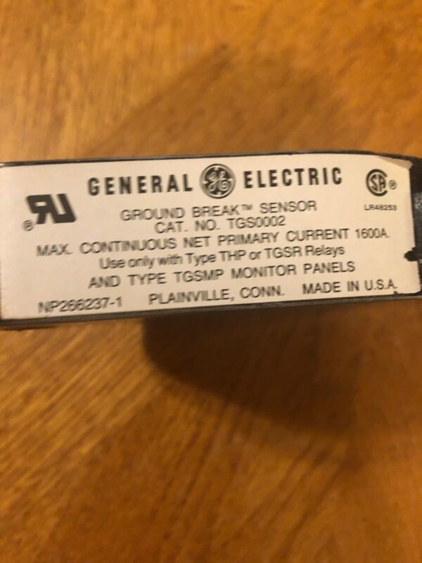 TGS0002 GENERAL ELECTRIC Ground Break Sensor for use with THP or TGSR Relays