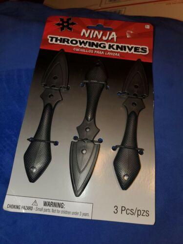 Set of 3 Throwing Knives Kunai Naruto Ninja Anime Cosplay Costume 6 inch new