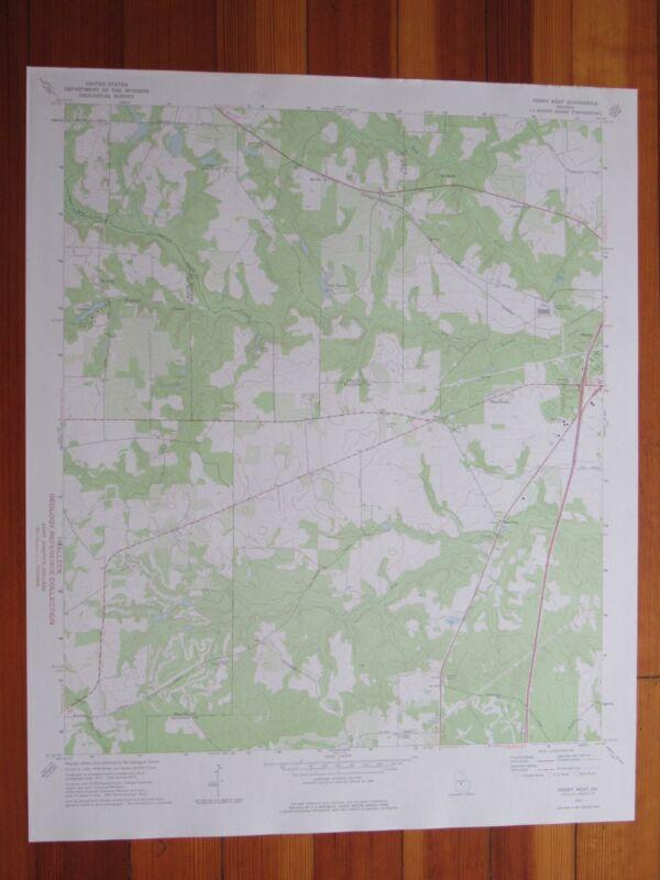 Perry West Georgia 1975 Original Vintage USGS Topo Map