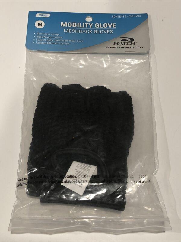 NEW Hatch All-Purpose Padded Mesh Wheelchair Gloves Medium Black - BR 607 - (1)