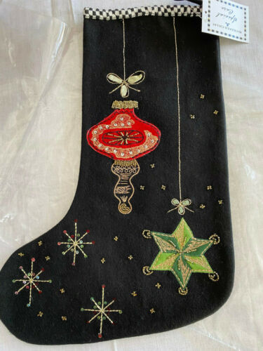 MACKENZIE-CHILDS BEDFORD FALLS ORNAMENTS Christmas Stocking NEW