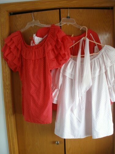 3 PC. SQUARE DANCE OUTFIT  MALCO MODES Red & white polka dot (6)