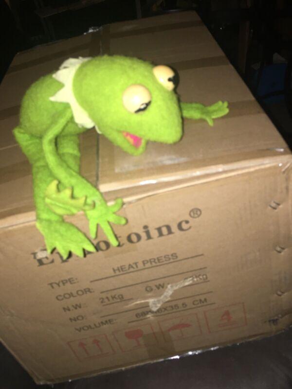Vintage 1976 Fisher Price Kermit the Frog #850 Plush Muppet Jim Henson Toy Doll