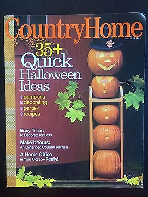 Country Home Magazine OCT 2008 35+ Quick Halloween Ideas FREE SHIPPING