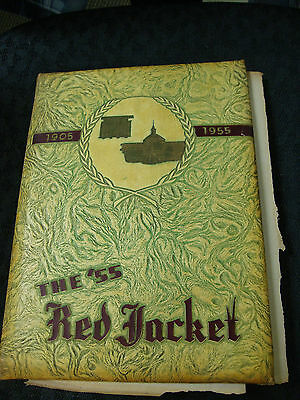 1955 Red Jacket Yearbook Jordan High School Columbus GA Bob Barr Band Director