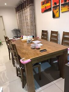 Hardwood Dining Table with Matching Buffet Revesby Bankstown Area Preview