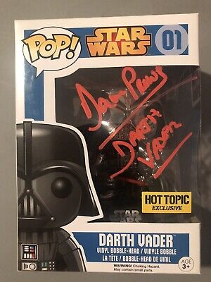 Dave Prowse signed autographed funko pop COA In Person Darth Vader Star Wars