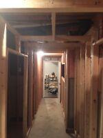 Handyman Services: Basement Framing, Shed,Deck Garage Shelving