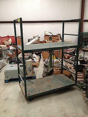 Clymer Enterprises Port A Cart Warehouse Shelved Cart 57 X 29