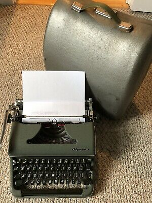 Mint 1958 Olympia Deluxe Sm-3 Sm-4 Typewriter In Case Sn 1104363 Works Great