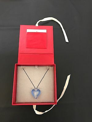 (Murano Glass Blue Heart Necklace, Blue, From Red Envelope)