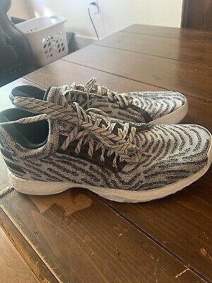 Adidas James Harden Vol 1 Zebra Size 12 Pre-Owned White Black Basketball Shoe