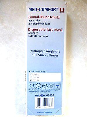 Mundschutz Masken Papier Gesichtsmaske Kosmetik 100 Stück VERSANDKOSTENFREI!