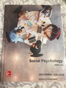 Centennial college textbook - social psychology