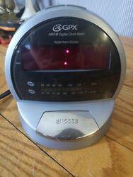 GPX AM/FM Radio DIGITAL ALARM CLOCK D516SM Tested Works old model