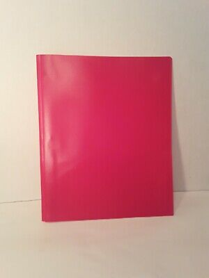 25 Pack School Plastic Two Pocket Folders With Prongs And Red