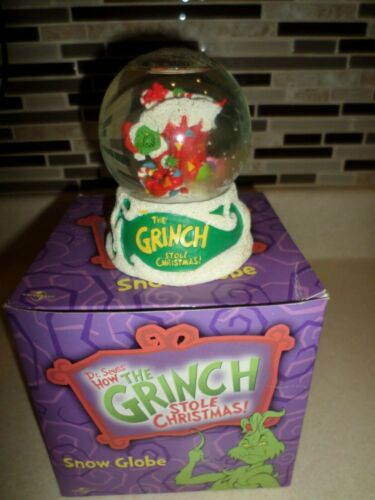 How the Grinch Stole Christmas! SNOW GLOBE (2001) Dr. Seuss Holiday NEW