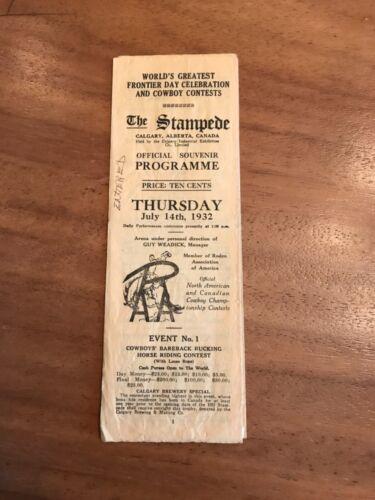 Vintage Calgary Stampede Official Souvenir Programme July 14, 1932