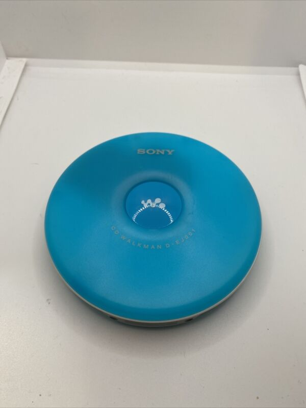 Sony Walkman Portable CD Player D-EJ001 CD-R/RW Turquoise Teal