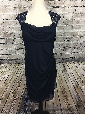 Xscape By Joanna Chen Dress Size14 Navy Blue Cocktail Party Prom
