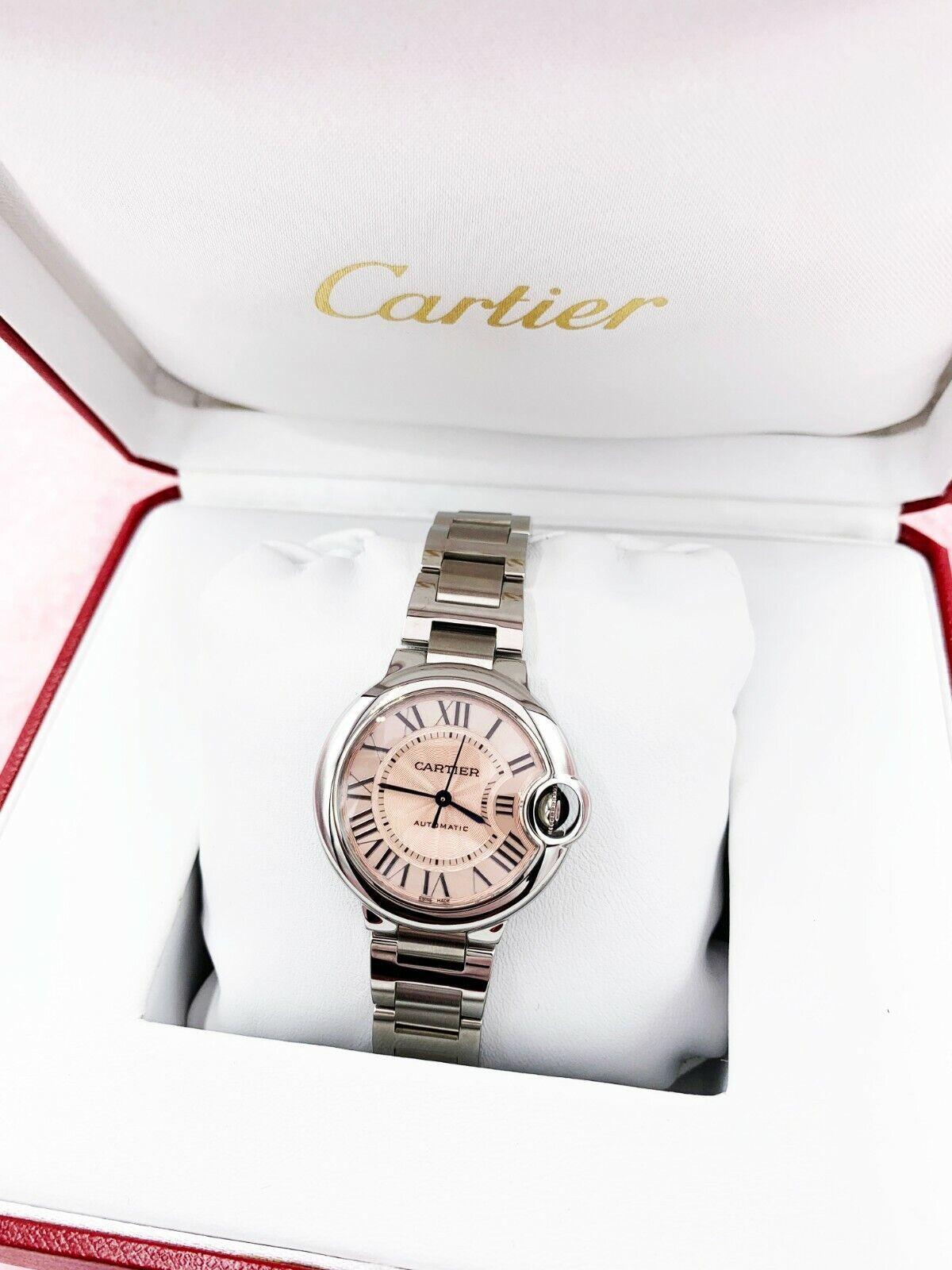 CARTIER Ballon Bleu 33mm Steel (W6920100) Pink Dial Steel Bracelet Women's Watch