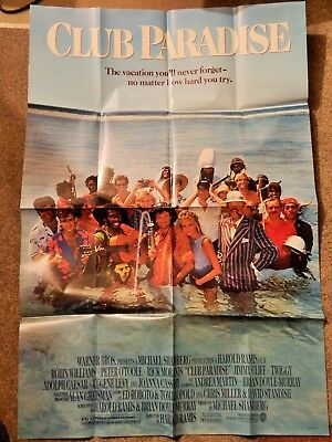 CLUB PARADISE (VIDEO DEALER 40 X 27 POSTER!, 1980S) ROBIN WILLIAMS, P O'TOOLE