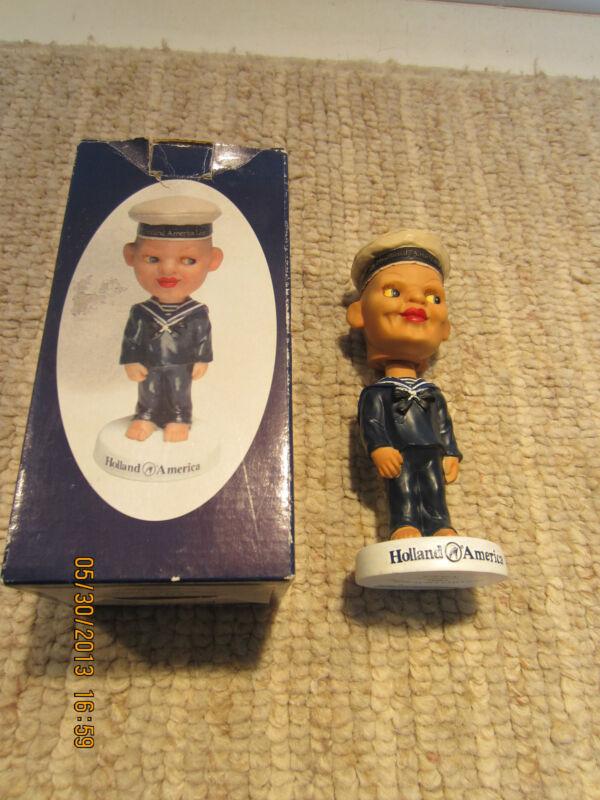 HOLLAND AMERICA BOXED BOBBLE HEAD SAILOR DOLL