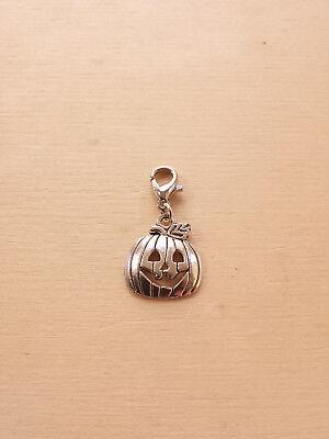 Kürbis Schmuckanhänger * Halloween Herbst Basteln Deko Zubehör Charms Silber