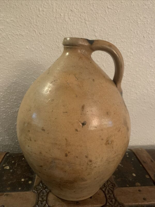 Rare LARGE Salt Glazed Stoneware Ovoid Jug M.C. Webster & Son Hartford, Conn