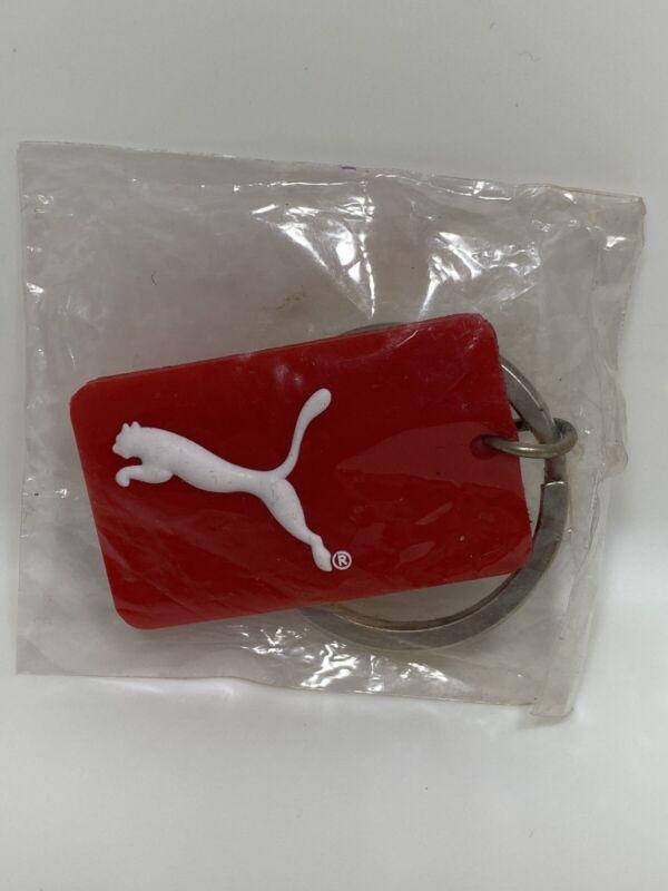 Red Footwear Brand Puma Cat Logo Key Ring Bandage Limit The Damage Advertising