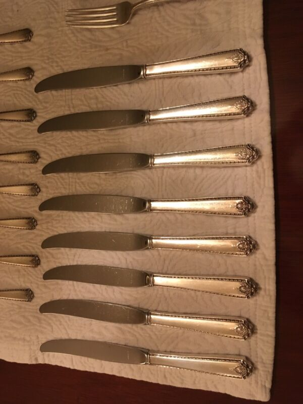 8 Westmorland Sterling French Dinner Knives Lady Hilton 1940