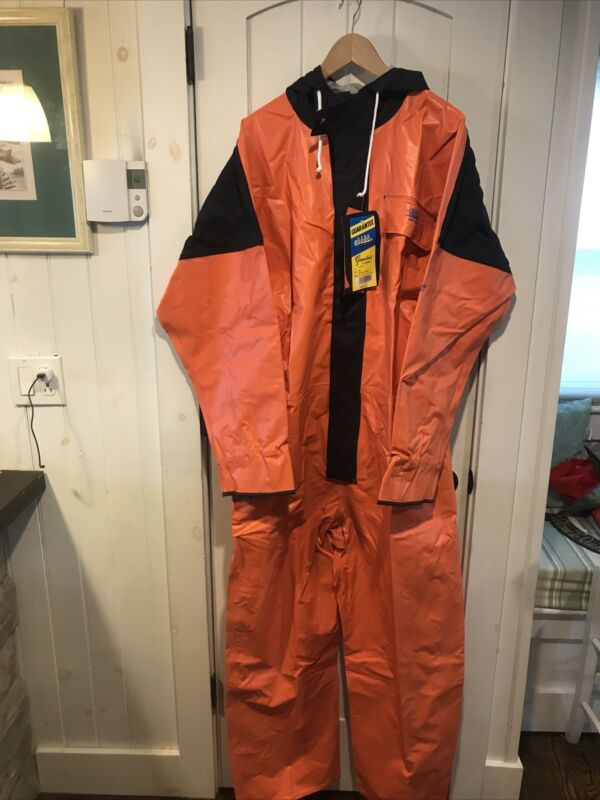 Grundens 1pc Neptune 502 Full Commercial Fishing Rain Coveralls Sailing XL NWT