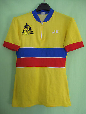 Maillot cycliste Cafe de Colombia Vintage 80'S cycling jersey rétro - 3