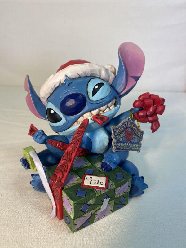Disney Traditions bad wrap LILO And Stitch Figurine Item 6002833