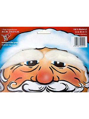 Paar Augenbrauen weiß Weihnachtsmann - Weiße Augenbrauen Kostüm