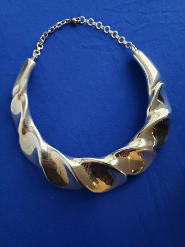 Signed - Frederick Jean Duclos Sterling Silver Collar Necklace 94 grams
