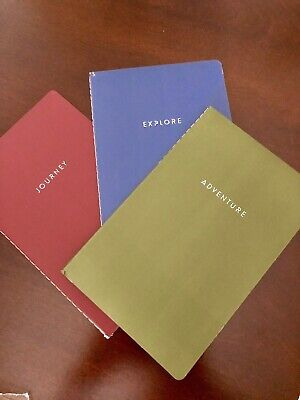 Blank Writing Journals (Set of 3 New Blank Journals Notebook Writing Lined  70 Pages 5 x 8 Size)