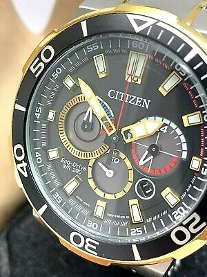 Citizen Men's Watch CA4258-87E Eco-Drive Black Dial Two Tone S. Steel DEFECTED