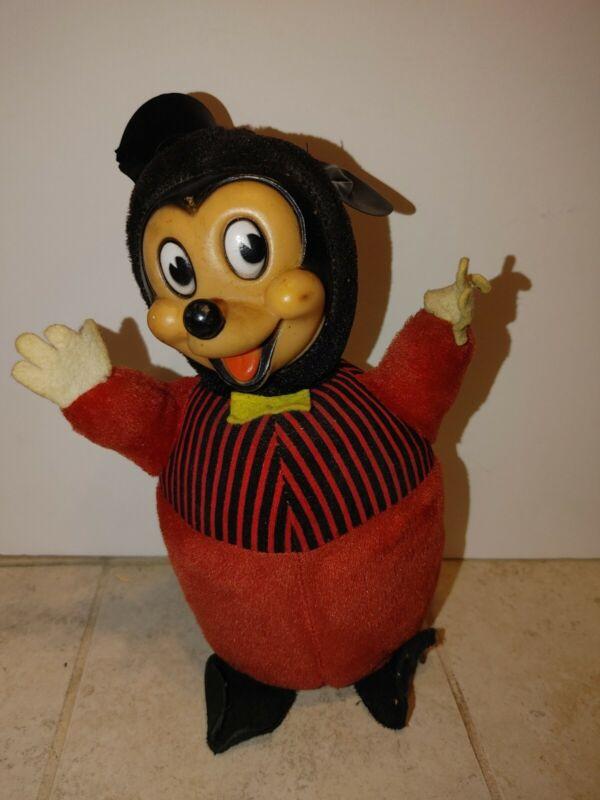 Vtg Mickey Mouse Gund Noise Maker Rare Stripe Shirt Plush