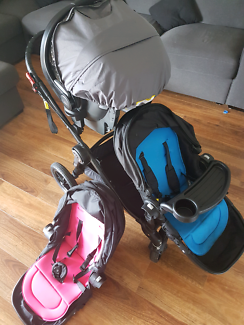 Baby jogger city select double and britax unity isofix capsule