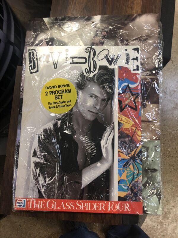 David Bowie Glass Spider Sound & Vision 2 Tour Book Set Hype Sticker