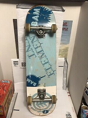 BAM Element Skateboard Exclusive Blue Seal W/ Wheels & Destructo Trucks Used GC