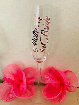 Decal Label for Wedding Party champagne flutes glasses/wine glasses Metallic