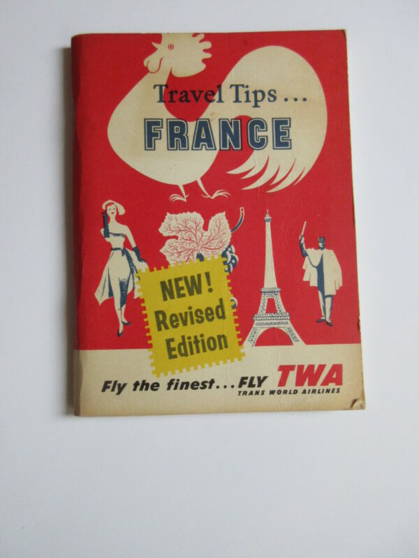 1959 TWA AIRLINES Travel Tips for FRANCE booklet